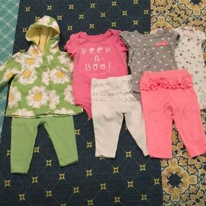 41c1bf656 Carters Olive Peplum Tunicfloral Leggings Set